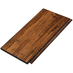 "Cali Bamboo - Solid Click Bamboo Flooring, Medium Antique Java Brown, Aged - Sample Size 8"" L x 3 3/4"" W x 7/16"" H"
