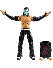 WWE Jeff Hardy Elite Collection Action Figure, 6-in/15.24-cm Posable Collectible Gift for WWE Fans Ages 8 Years Old & Up