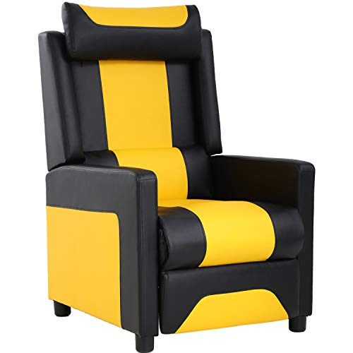 Gaming Chair Recliner Chair Reclining Sofa Single Home Theater Seating Gaming Sofa PU Leather for Living Room ()