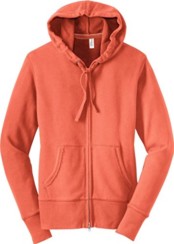 District Threads - Ladies / Juniors Vintage French Terry Full-Zip Hoodie - DT233