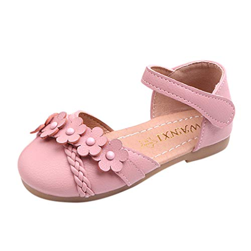 Mysky Fashion Infant Toddler Kids Baby Girls Popular Sweet Flower Comfortable Flat Sandals Single Shoes Pink