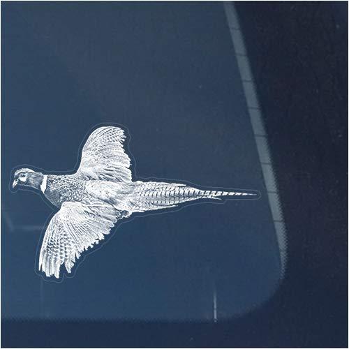 (Pheasant Vinyl Decal Sticker for Window, Flying Bird Hunting Sign Art Print Design)