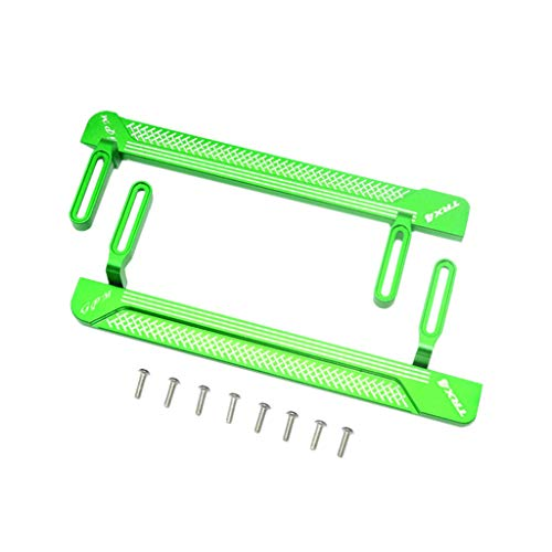 GPM Upgrade Metal Pedal Foot Side Steps Parts for RC Crawler 1/10 TRAXXAS TRX-4 (Green) ()