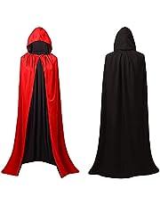 Halloween Kostuum Vrouwen En Mannen Wizard Cape, Heks Cape Met Hoed, Heks Kostuum Wizard Jas Voor Vrouwen En Mannen Halloween Party Cosplay