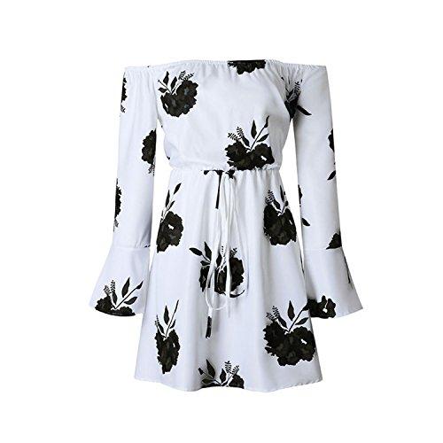GUNCOI Sexy Backless Floral Print Summer Dress 2018 Sundress Vestidos White Chiffon Bandage Women Dresses Robe Femme White and Black XXXL