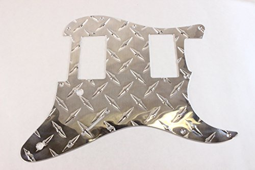 (Economy Strat HXH Diamond Plate Aluminum Pickguard Fits Fender Stratocaster)