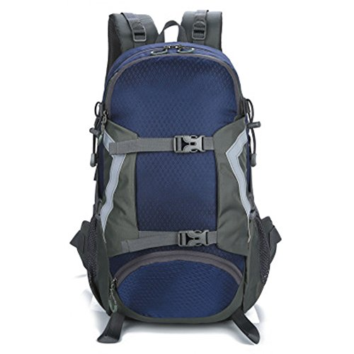 Jranter New 30L Couple Backpack Breathable Mountaineering Bag Outdoor Casual Daypack for Men and Women Hiking Backpack Travel Camping Fishing Rucksack Deep Blue by Jranter