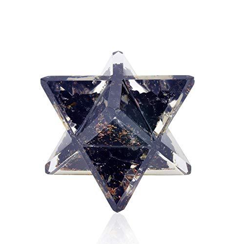 Orgonite Crystal Black Tourmaline Merkaba EMF Protection Meditation Energy Generator for Balancing Chakras