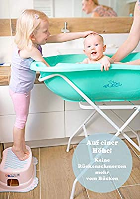 Tega Baby/® Ergonomic Baby Bath Tub 86 cm with Built-in Thermometer Plug for Draining Water Drain Plug Safe Bathing Baby Bath 0-12 Months