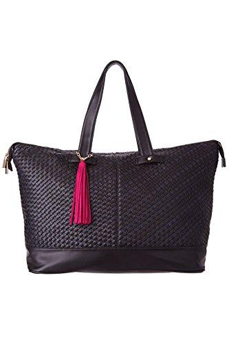 deux-lux-exclusive-vegan-weekender-tote-beach-bag-navy-black-one