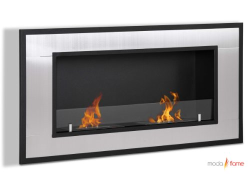 Moda Zeal Lugo Wall Mounted Bio Ethanol Ventless Fireplace