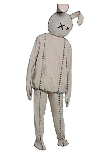 Adult Stitched Rabbit Doll Costume Lifeless Bunny
