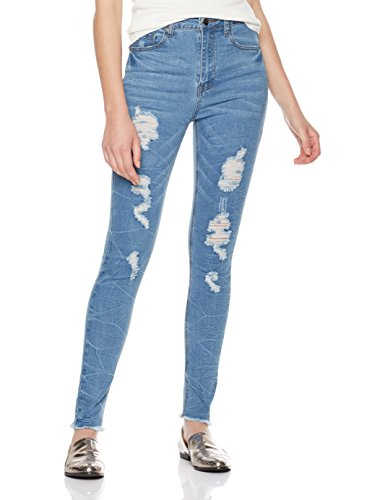 Lily Parker Women's Destroyed Rip Holes Skinny ...