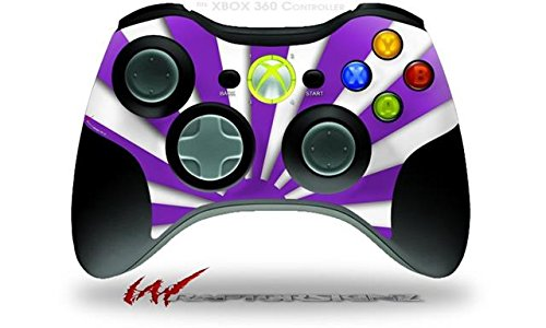 XBOX 360 Wireless Controller Decal Style Skin - Rising Sun Japanese Flag Purple (CONTROLLER NOT INCLUDED)