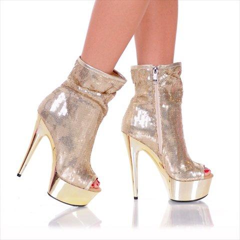 The Highest Heel Women's Amber-411 Bootie,Gold Sequin,12 M -