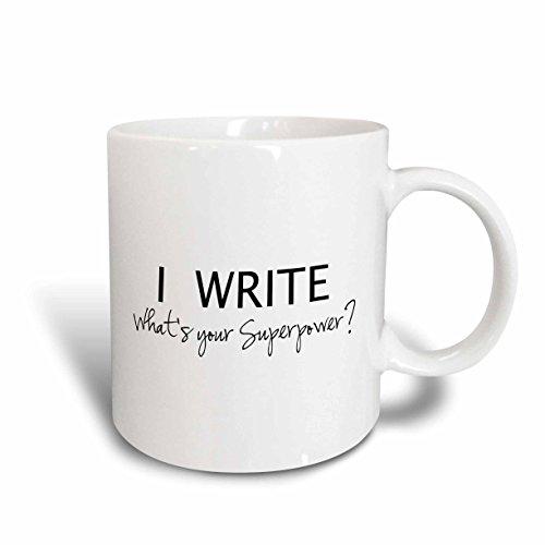 3dRose mug_194455_2 Superpower Writers 15 Ounce