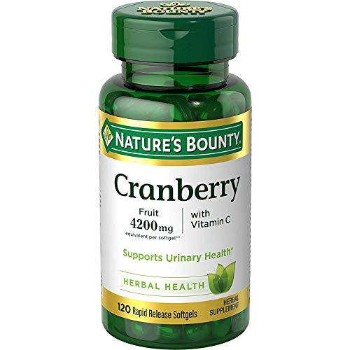 Natures Bounty Cranberry Fruit Plus Vitamin C, 4200mg (120 Softgels)