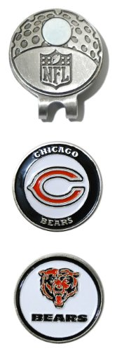 o Bears Golf Cap Clip with 2 Removable Double-Sided Enamel Magnetic Ball Markers, Attaches Easily to Hats ()