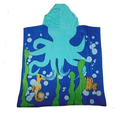 """Kids """"Octopus"""" Beach Towel Hoodie"""
