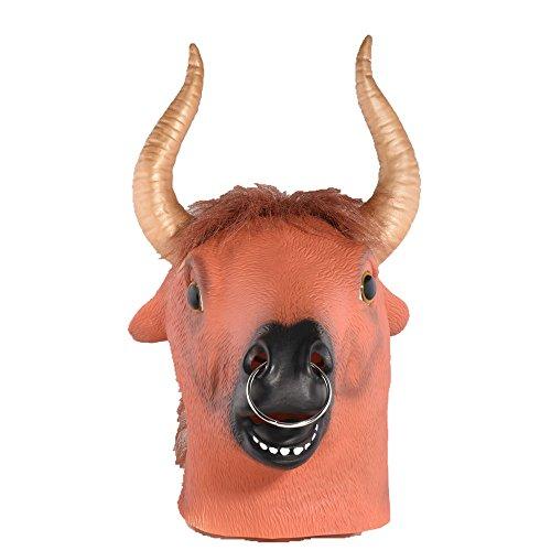 Strange Party Halloween Buffalo Latex Mask Novelty Costume Fancy Dress Animal Masks