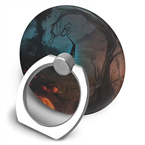 Cell Phone Finger Ring Holder Scary Halloween Night 360 Degree Rotating Stand Grip Mount Phone Bracket -