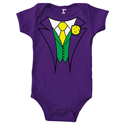 Villain Costume - Comic Evil Nemesis Bodysuit (Purple, 12 Months) ()