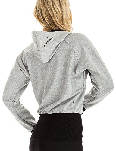 Winshape WBU7 - Sudadera para mujer (diseño con capucha) Gris - Gris