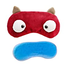Firstsight Cold Hot Compress Eye Sleep Mask with Removeable Ice Bag Novelty Eye Shade Patch Blinder for Travel, Nap, Meditation Red