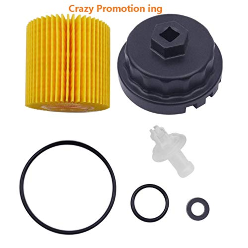 Genuine Oil Filter with Wrench for Toyota, Lexus , RAV4, Camry, Tundra, Highlander, Sienna and More,Oil Drain Plug Gasket Washers, Oil Filter Housing Cap Removal Tool Set for Oil Change and Oil Drain by Ibetter (Image #6)