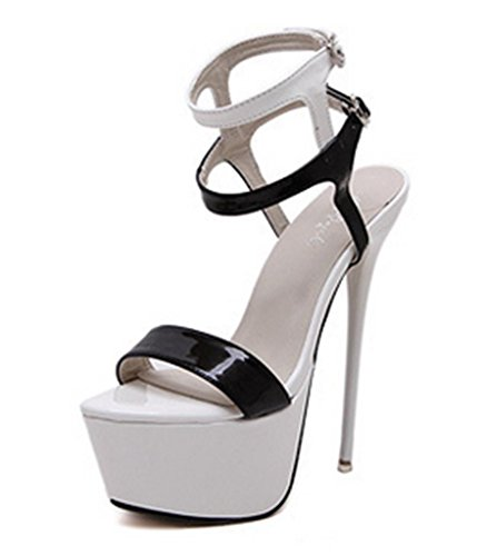 and Classic Toe Cross white Chaussures Chaussures d'été Mode Pointed Pumps hauts Stiletto MNII Slip Strap Talons Court Chaussures Womens On black q0wxfFXH1
