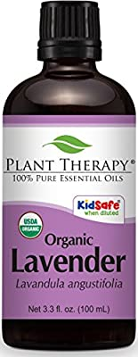 Plant Therapy Lavender Organic Essential Oil 100% Pure, Undiluted, Therapeutic Grade