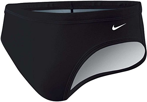 Nike Swim NESS4030 Mens Poly Core Solid Brief, Black-28 - Nike Poly Core