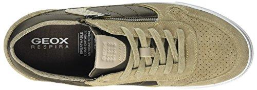 U Herren Brown Sand C Beige Sneaker Box Geox 1gqdvnxF1