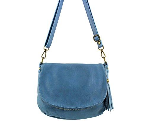 cuir Italie Mavia épaule porté Ciel CHLOLY Sac Bleu aqtAUU