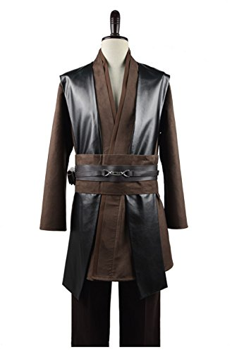 [Cosparts Star Wars Jedi Darth Maul Anakin Skywalker Cosplay Costume (US Size Large, Coffee Version)] (Anakin Star Wars Costumes)