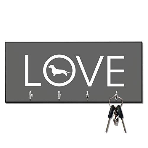 Dachshund Leash Holder (Love Dachshund Key and Leash Hanger)