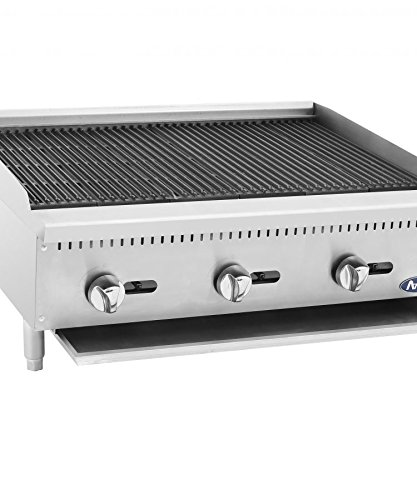 ATCB-36 Stainless Lava Rock Charbroiler Grill Char-Rock Broiler Natural Gas (36)