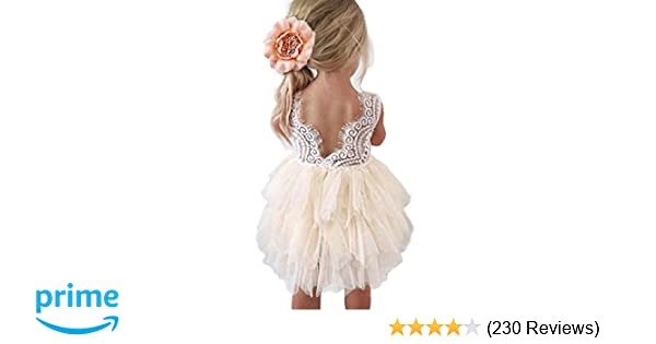 5d92153b6 Amazon.com: Topmaker Backless A-line Lace Back Flower Girl Dress: Clothing