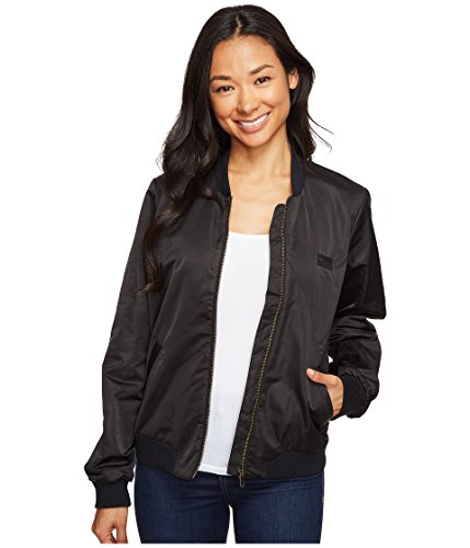 Volcom Women's in My Lane Bomber Jacket, Black, L
