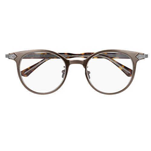 Gucci GG 0068O 002 Brown Ruthenium Titanium Round Eyeglasses 49mm