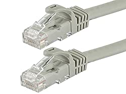 Monoprice 2-Feet FLEXboot Series 24AWG Cat6 550MHz UTP Ethernet Bare Copper Network Cable, Gray (109810)