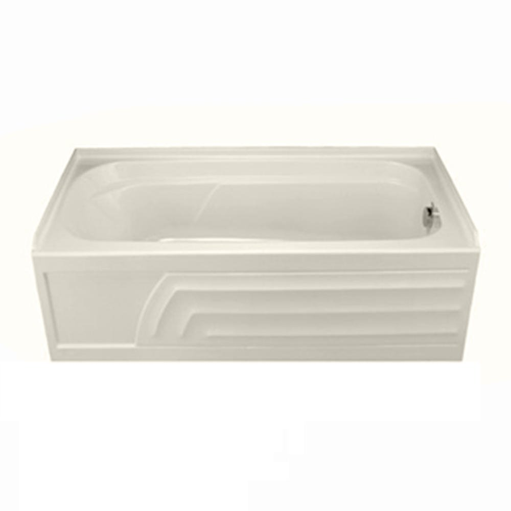 american standard colony bath tub with integral apron and dual moldedin armrests white recessed bathtubs amazoncom