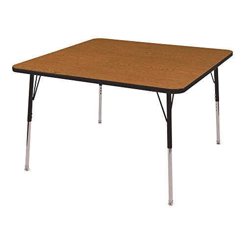 Norwood Commercial Furniture Adjustable-Height Square Activity Table,48