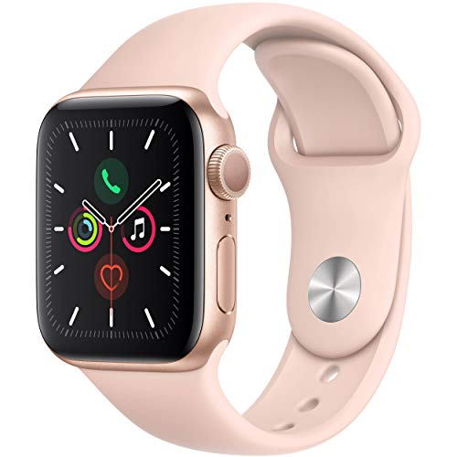 Apple Watch Series 4 (GPS, 44MM) - Silver Aluminum Case with White Sport Band (Renewed)