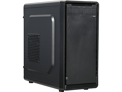 ROSEWILL-Micro-ATX-Mini-Tower-Computer-Case-Steel-and-plastic-computer-case-with-1x-80mm-rear-fan-Top-IO-ports-1x-USB30-2x-USB-20-and-Audio-InOut-ports-SRM-01