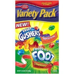 Fruit Roll Up, Gushers, Fruit By the Foot Variety Pack-8 Pouches! by Fruit Roll-Ups