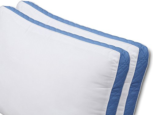 Utopia Bedding Gusseted Quilted Pillow (Standard/Queen 18 x 26 Inches, Blue) Set of 2 Premium Quality Bed Pillows Side Back Sleepers Blue Gusset (Blue, Queen) - bedroomdesign.us