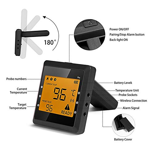 Digital Bluetooth Meat Thermometer for iPhone - 6 Long