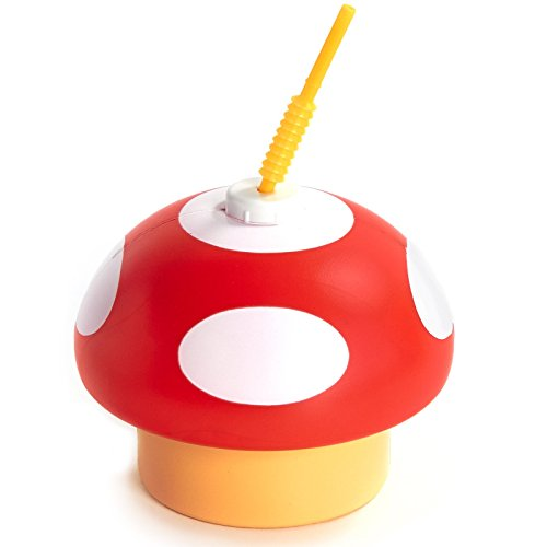 Party Supplies - Mushroom Sippy Cups with Straws (8)