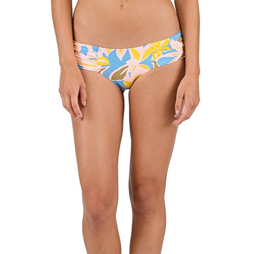 Volcom Women's Palms up Cheeky Bikini Bottom, Coastal Blue, M (Volcom Cheeky Bikini)